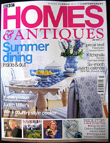 Home and Antiques Magazine article front cover