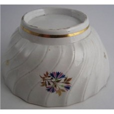 Chamberlain Worcester Slops Bowl, Shanked Body with  Cornflower Sprig Decoration, c1795