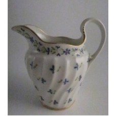 Worcester 'Waisted Shanked Body' Milk Jug, Decorated with 'Cornflowers', c1795