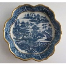 Caughley Salopian 'Thomas Turner' Fluted Teapot Stand, 'Pagoda' pattern, c1780