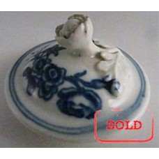 SOLD A Very Small First Period Worcester Saucer, Decorated with the 'Fence Pattern', c 1780 SOLD