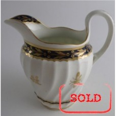 SOLD Flight and Barr period Worcester Shanked Milk Jug, Blue and Gilt Decoration with the 'Fly' pattern, c1790 SOLD