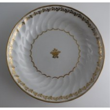 Coalport Spiral Shanked Plate, Gilded Leaf Garland Decoration, c1800