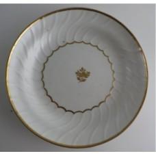 Coalport Spiral Shanked Plate, Gilded Leaf Garland Decoration, c1800