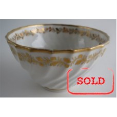SOLD Coalport Spiral Shanked Tea Bowl, Gilded Leaf Garland Decoration, c1800 SOLD