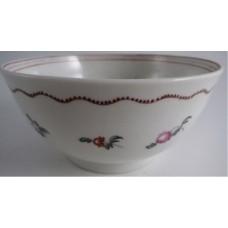 New Hall Slops Bowl 'Basket of Flowers' Pattern 171, c1780-90